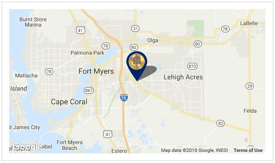 Gold Medal Safety Padding map - Lehigh Acres, FL